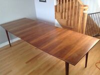 Surfboard Mid Century Modern Dining Table - Can Seat 4 - 12