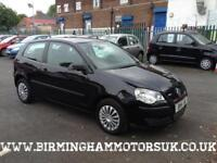 2008 (08 Reg) Volkswagen Polo 1.2 E (70BHP) 3DR Hatchback BLACK + LOW MILES