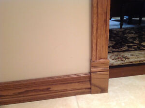 SOLID OAK BASEBORDS AND TRIM - NEW