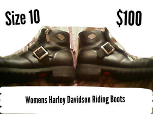 Women's Harley Davidson Riding Boots, Size 10 For Sale