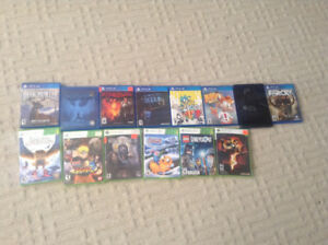 PS4 and Xbox360 games $10-$5