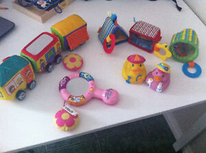 Soft toy train ,shapes & vtech musical mirror