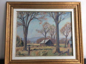 Original oil on board painting by Robert Stewart Hyndman