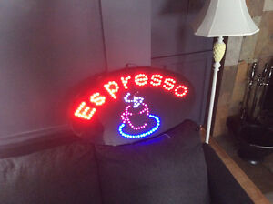 Moose lamp & Espresso sign, both very cool indeed!