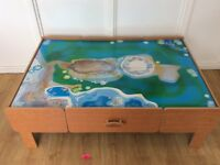 Wooden play table for Trains, cars, Lego, Duplo, craft Etc.