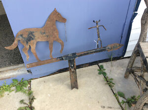 Horse and Cowboy Weathervane