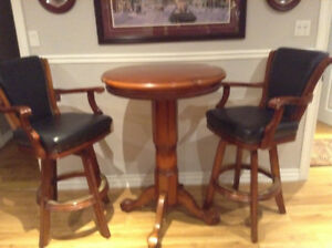 Pub table 2 swivel chair new 2500.00