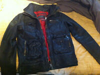 NEW SuperDry 100% REAL Leather Jacket
