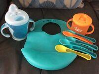 Tommee Tippee baby cup spoon bundle