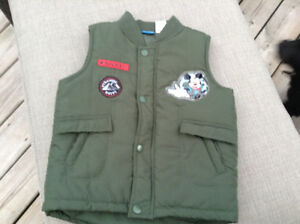 Boys Size 4T Green Disney Vest