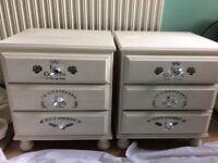 Annie Sloan original white bedside units