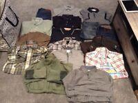 Mixture of men's designer clothes