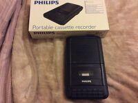 Phillips cassette recorder
