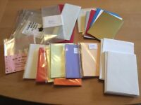 Coloured cards, envelopes, cellophane bags. Card-making. Craft. Job lot