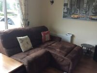 Large corner sofa each end reclines not including table as I bought separately
