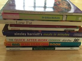 Bundle of cooking recipe books x9