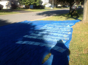 Pool net for leaves / cover 20' by 40' with 10 weight bags