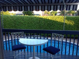 Petit set de patio pour deux personnes
