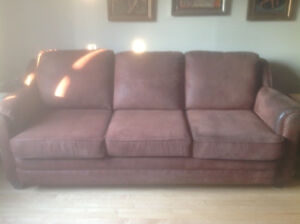 PRICE DROP! COMFY FAUX SUEDE  SOFA - CANADIAN MADE FROM SEARS