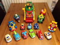 """Selection of Vtech """"toot toot"""" and WOW cars"""