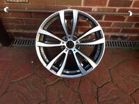 BMW X5 front m sport alloy wheel diamond cut