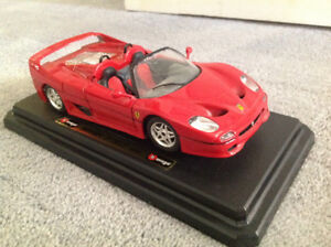 Die cast Ferrari F50 by Burago with display stand