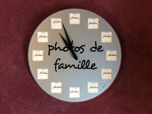 Fun Working Clock with Slots for 12 Family Photos