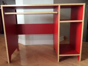 IKEA  bureau d ordinateur/ travail  couleur rouge