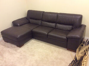 Luxury Italian all around leather sectional