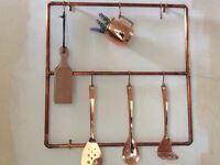 Copper Pan Rack