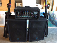 Used YorkVille PA - Speakers, Stands, Amplifier CGM8300 + 2 YX12