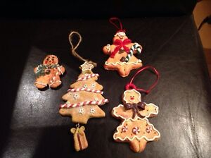 Gingerbread, Snowman and Snow globe Ornaments and Figurines