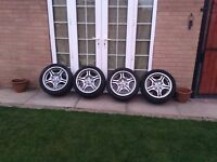 BMW style 68 staggered alloy wheels