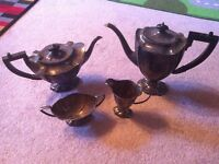 Electroplated silver tea set and platter - PRICE REDUCED!