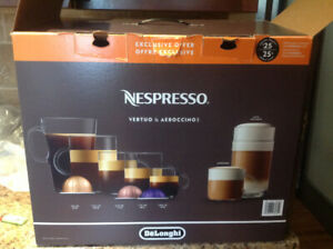 Nespresso vertou used one day.