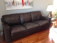 Leather bonded couch