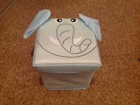 ELEPHANT TOY BOX + STOOL