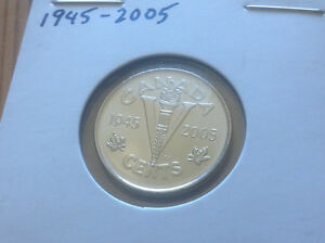 1945- 2005 CANADA V -DAY COMMEMORATIVE 5 CENT COIN (22 for Sale)