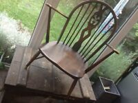 Ercol cottage wooden fireside chair