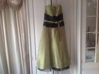 Truebride olive bridesmaid dresses ballerina length