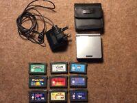 Nintendo Gameboy Advance SP + 9 games
