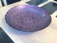 Lovely large glass decorative bowl new
