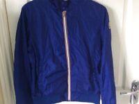 Moncler Age 14 blue bomber jacket