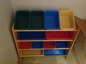 Toy Bins with Rack