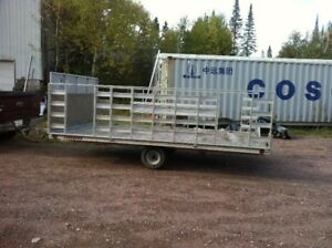 ATV-SNOWMACHINE ALUMINUM  TRAILER 8 X 14 FOR SALE REDUCED