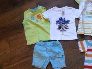 5 morceaux vêtements été 12 mois pour garçon