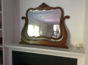 Wood framed vintage mirror
