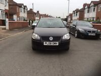 2008 Volkswagen Polo 1.2 3dr hatchback petrol manual black colour low mileage full history £1595