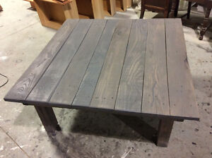 RECLAIMED WOOD COFFEE, SOFA AND END TABLES