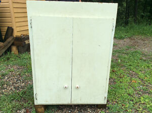 Old cupboard made of pine $20